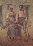 Jean Francois Millet Peasant family oil painting picture wholesale