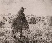 Jean Francois Millet Shepherden in the field oil painting picture wholesale