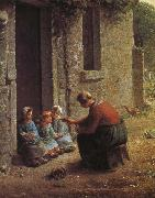 Jean Francois Millet Woman feeding the children oil painting picture wholesale