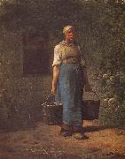 Jean Francois Millet Woman carry the water oil painting picture wholesale