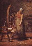 Jean Francois Millet The woman weaving the sweater oil painting picture wholesale