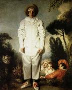 Jean antoine Watteau gilles oil painting on canvas