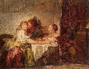 Jean-Honore Fragonard The Captured Kiss, the Hermitage, St. Petersburg oil painting picture wholesale