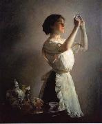 Joseph Decamp The Blue Cup oil painting artist