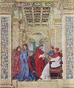 Melozzo da Forli Pope Sixtus IV appoints Bartolomeo Platina prefect of the Vatican Library oil painting picture wholesale