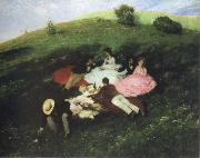 Merse, Pal Szinyei picnic in may oil painting picture wholesale