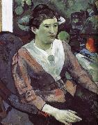 Paul Gauguin Cezanne s still life paintings in the background of portraits of women oil painting picture wholesale