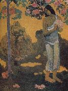 Paul Gauguin Woman holding flowers oil painting picture wholesale