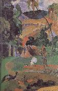 Paul Gauguin There are peacocks scenery oil painting picture wholesale