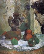 Paul Gauguin There is still life portrait side of the lava oil painting picture wholesale