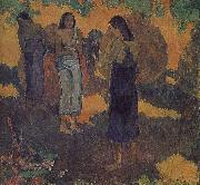 Paul Gauguin Yellow background, three women oil painting picture wholesale