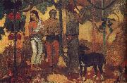 Paul Gauguin Holiday preparations oil painting picture wholesale
