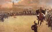 Ramon Casas i Carbo The Charge or Barcelona 1902 oil painting picture wholesale