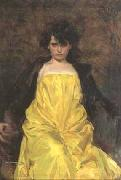 Ramon Casas i Carbo portrait of Julia Peraire oil