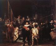 Rembrandt van rijn the night watch oil painting picture wholesale