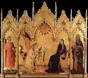 Simone Martini The annunciation with Two Saints oil painting picture wholesale