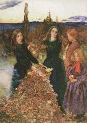 Sir John Everett Millais autumn leaves oil painting picture wholesale