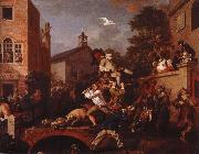William Hogarth chairing the member oil painting picture wholesale