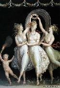 Antonio Canova The Three Graces Dancing oil