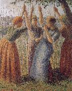 Camille Pissarro Woman under the bean frame oil painting picture wholesale