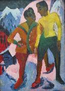 Ernst Ludwig Kirchner Two Brothers, oil