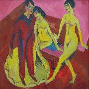 Ernst Ludwig Kirchner Dance School, oil