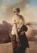 Francesco Hayez Ruth Sweden oil painting artist
