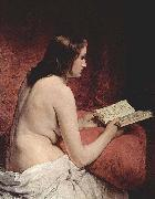 Francesco Hayez Odalisque with Book oil painting picture wholesale