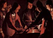 Georges de La Tour Dice players oil painting picture wholesale