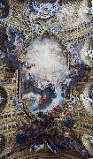 Giovanni Battista Gaulli Called Baccicio The Worship of the Holy Name of Jesus, with Gianlorenzo Bernini, on the ceiling of the nave of the Church of the Jesus in Rome. oil painting artist