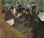 Henri de toulouse-lautrec Self portrait in the crowd, at the Moulin Rouge oil painting picture wholesale
