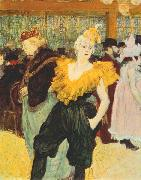 Henri de toulouse-lautrec The clown Cha U Kao at the Moulin Rouge oil painting picture wholesale