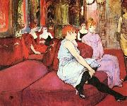 Henri de toulouse-lautrec Salon at the Rue des Moulins oil painting picture wholesale