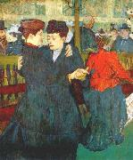 Henri de toulouse-lautrec At the Moulin Rouge, Two Women Waltzing oil painting picture wholesale