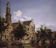 Jan van der Heyden Canal and Church of the scenic West oil painting artist