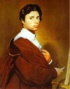 Jean Auguste Dominique Ingres Self portrait at age 24 Sweden oil painting reproduction