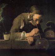 Jean Baptiste Simeon Chardin Blowing bubbles juvenile oil painting picture wholesale