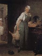 Jean Baptiste Simeon Chardin Market Return oil painting picture wholesale