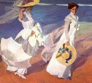 Joaquin Sorolla Walk on the Beach, oil painting picture wholesale