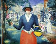 Kazimir Malevich Flower Girl, oil painting artist