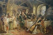 Konstantin Makovsky The kissing custom oil painting picture wholesale