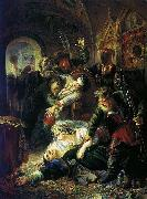 Konstantin Makovsky Agents of the False Dmitry kill the son of Boris Godunov oil painting picture wholesale