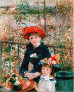 Pierre-Auguste Renoir On the Terrace, oil painting picture wholesale