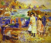Pierre-Auguste Renoir Children at the Beach at Guernsey, oil painting picture wholesale