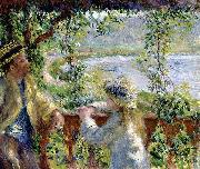 Pierre-Auguste Renoir By the Water, oil painting picture wholesale