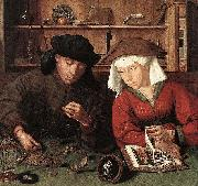 Quentin Matsys The Moneylender and his Wife oil painting