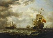 Simon de Vlieger The Brederode off Hellevoetsluis oil painting artist