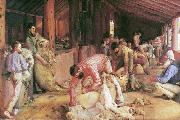 Tom roberts Shearing the Rams oil painting picture wholesale