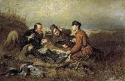 Vasily Perov The Hunters at Rest oil painting picture wholesale