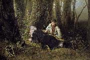 Vasily Perov The bird catcher oil painting picture wholesale